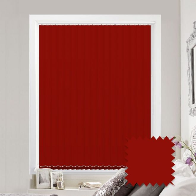 Blackout Bermuda Plain Pepper Vertical Blinds - Just Blinds